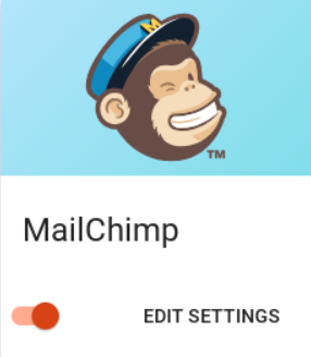 Screen shot of the Mailchimp settings option in Simply Schedule Appointments
