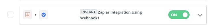 Zapier zap turned on webhooks integration appointments