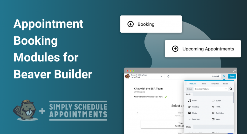 Appointment Booking Modules for Beaver Builder Banner
