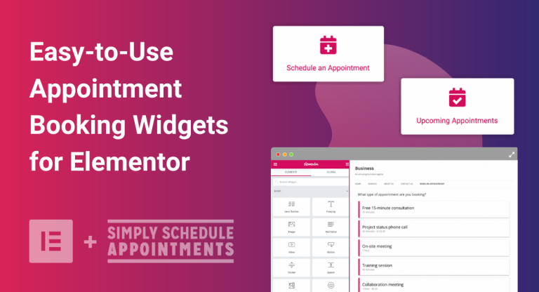 Elementor Appointment Booking Widgets Banner