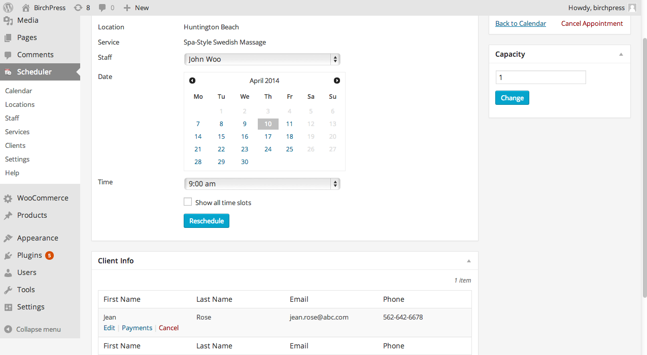 Best Appointment Scheduling Plugins: BirchPress