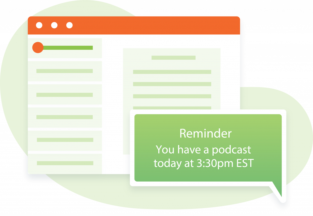 Scheduled Podcast Reminder Illustration