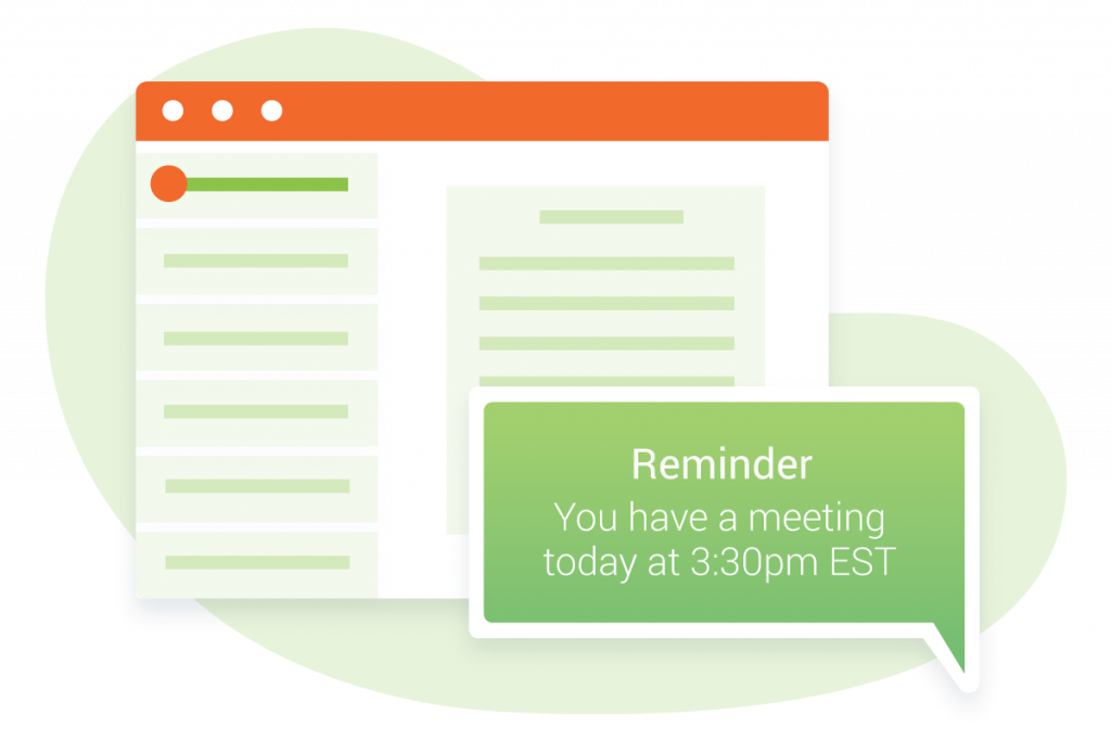 Email Confirmation and SMS Reminder Illustration