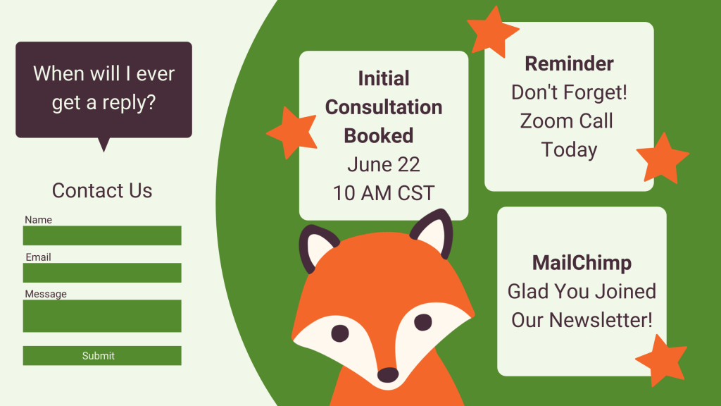 Contact forms vs. booking calendars