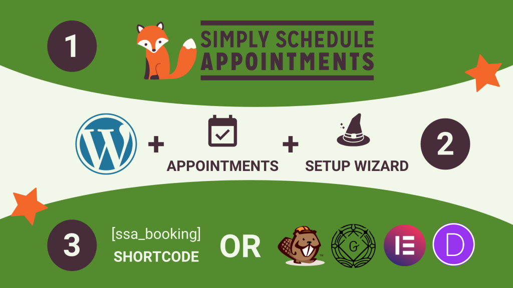 Add a demo booking form to your website with the SSA shortcode, appointment block, or widget