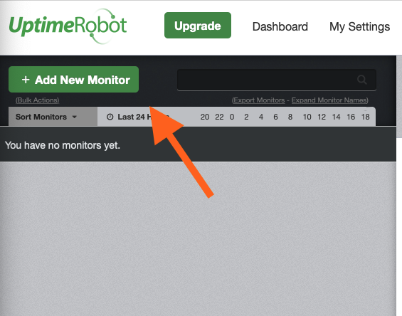 Add a New Monitor in the Uptime Robot Tool