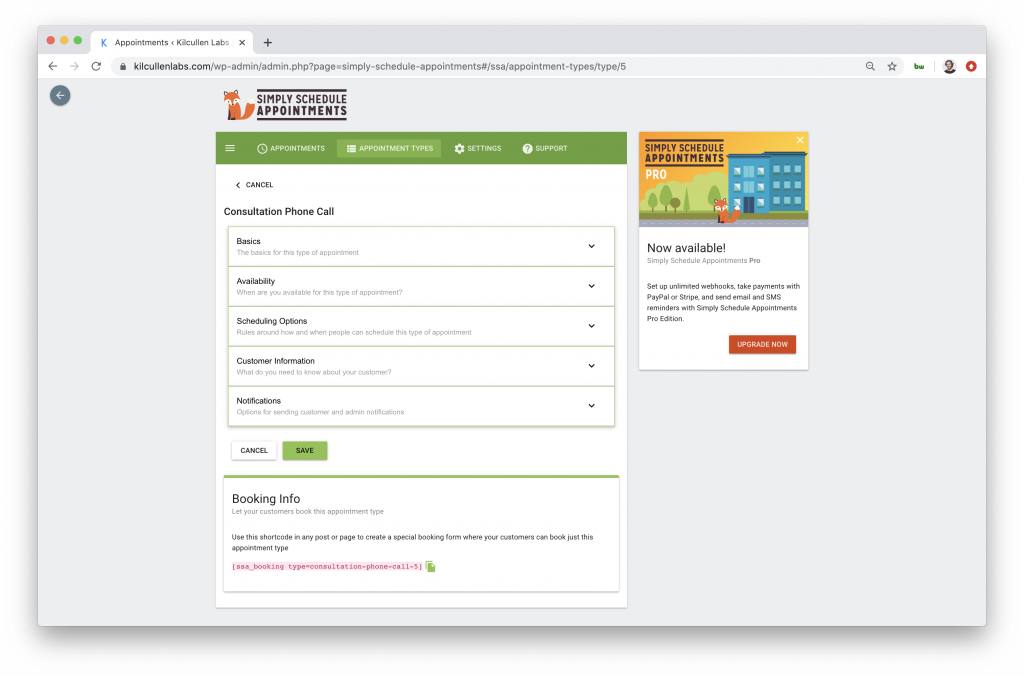 Adding a Free Appointment Booking System to Website via Shortcode