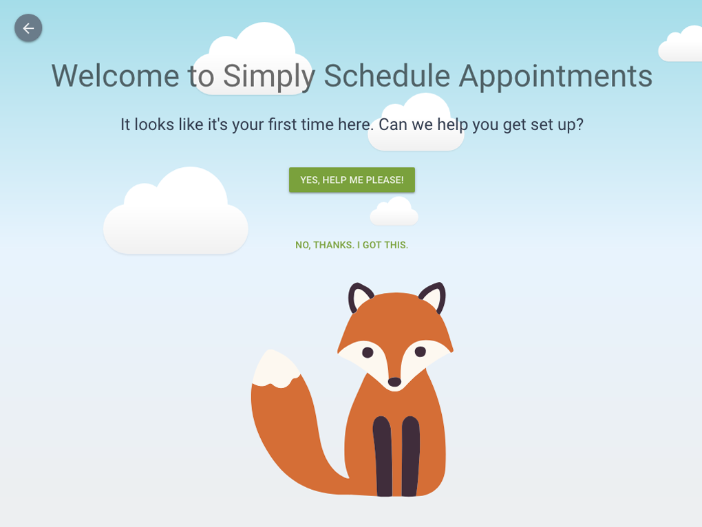 Simply Schedule Appointments Onboarding Screenshot