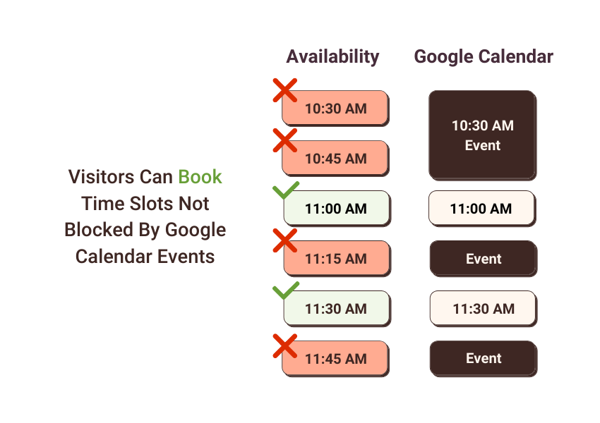 No Available Appointments – Google Calendar