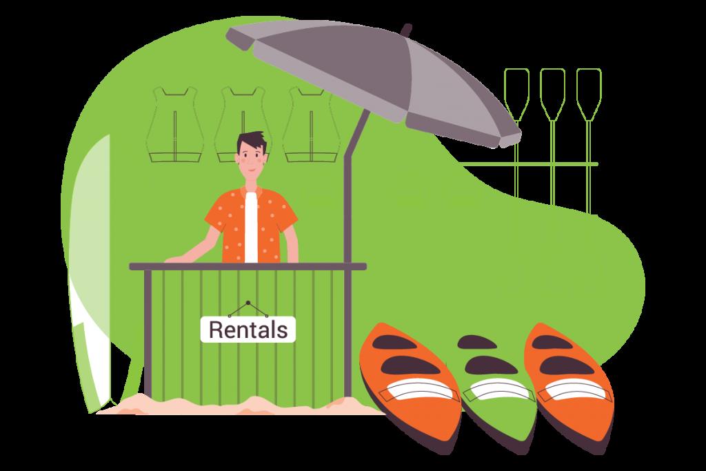 Beach Rentals Illustration
