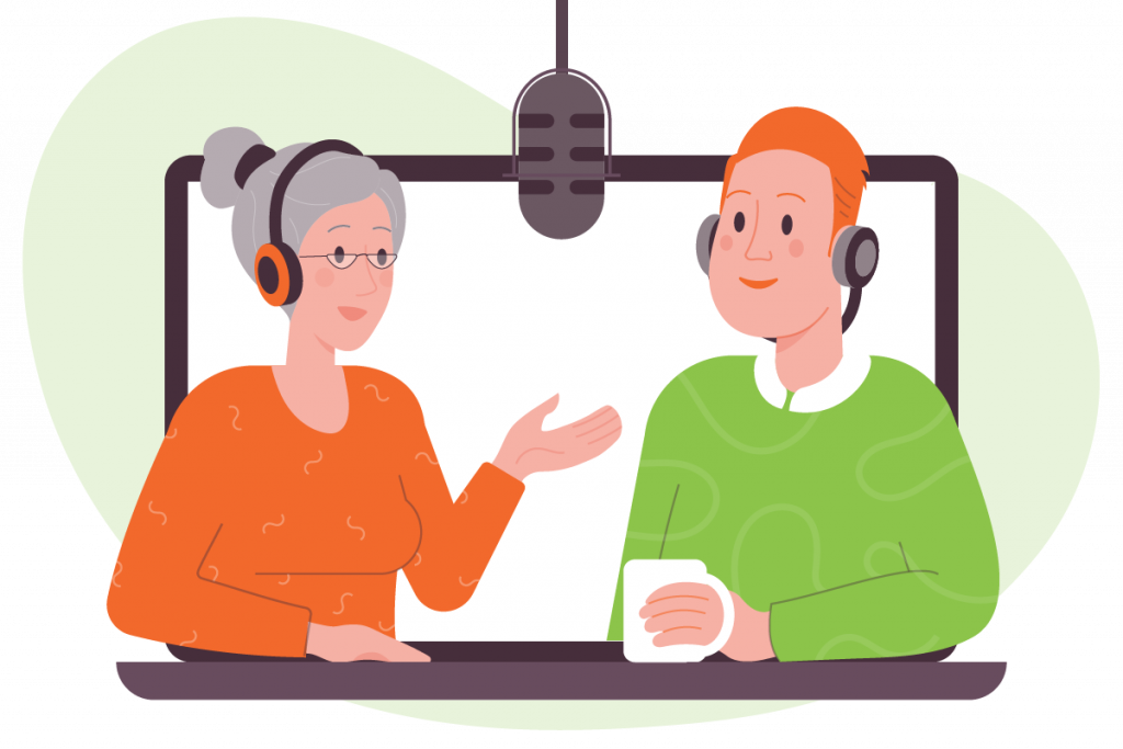 Podcast Guest Scheduling Illustration
