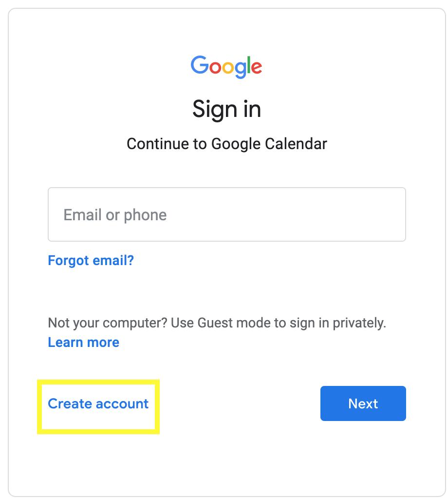 google-calendar-sign-up