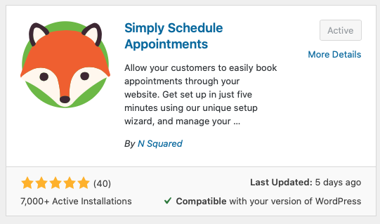 Use the simply schedule appointments plugin to begin booking appointments in less than 5 minutes, setup free WordPress scheduling plugin in 5 minutes