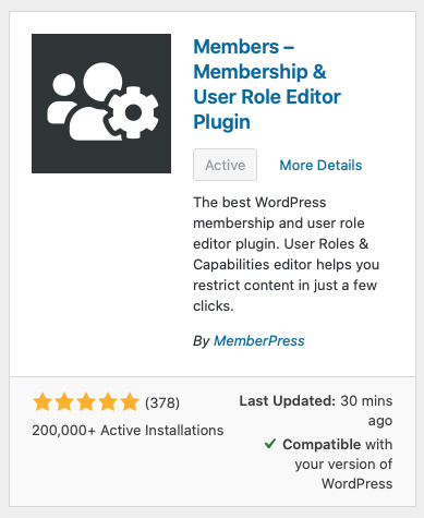 Use the Members plugin to let your employees manage admin appointments and settings