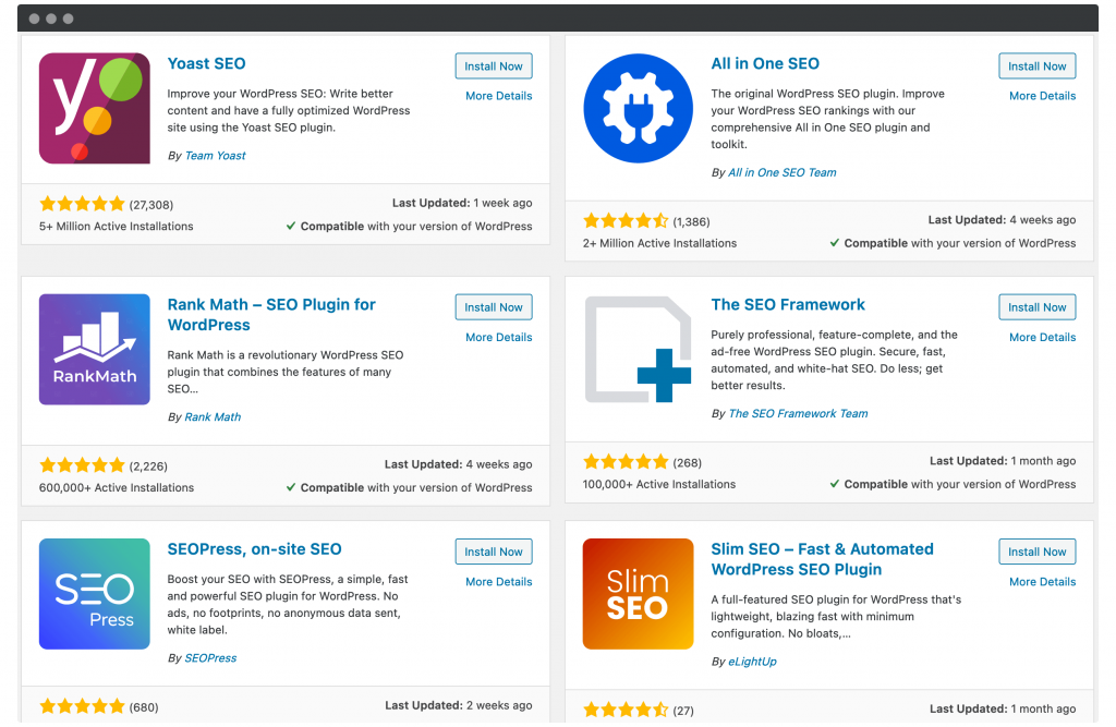 A collection of SEO plugins.