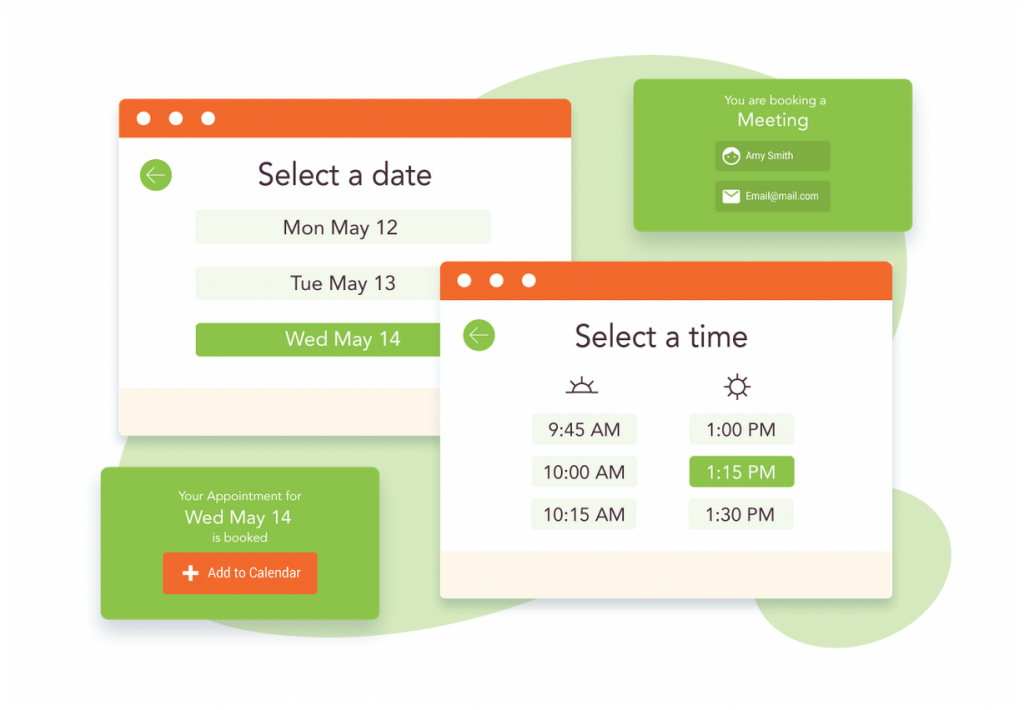 The Simply Schedule Appointments home page.