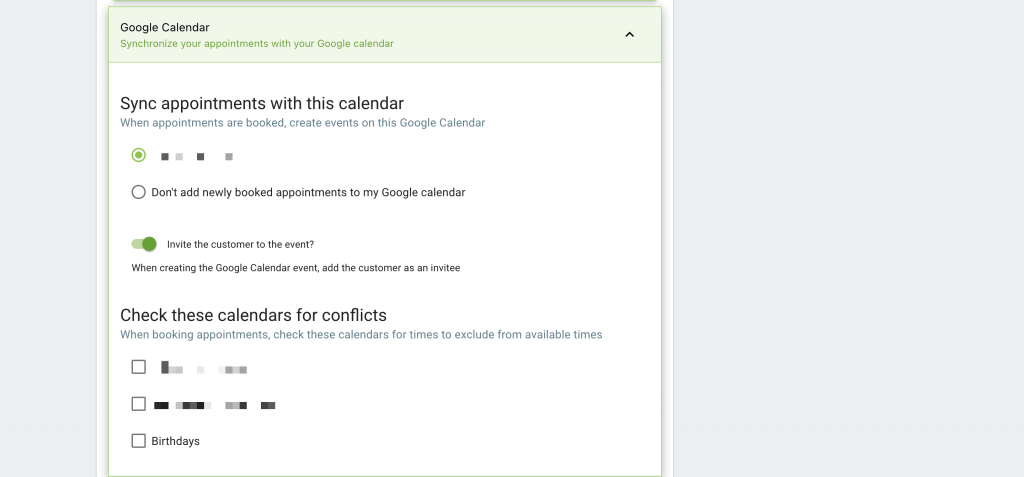 Syncing a Google Calendar in Simply Schedule Appointments.