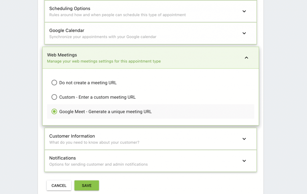 Setting a Web Meeting in Simply Schedule Appointments.