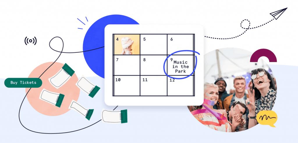The Events Calendar website.