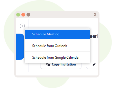 Different Meeting Options