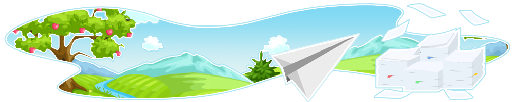 Banner image of papers flying around gloriously to represent the spam of Online Booking Templates.