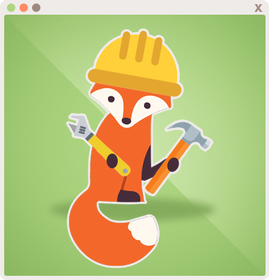 Foxy ready to create and renovate things!